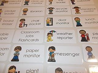 23 Laminated Classroom Jobs Flashcards.