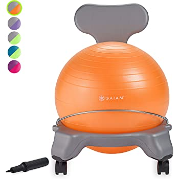 Flexible School Chair Active Classroom Desk Alternative Seating Built-In Stay-Put Soft Stability Legs gaiam Kids Stay-N-Play Childrens Balance Ball Prints /& Sizes