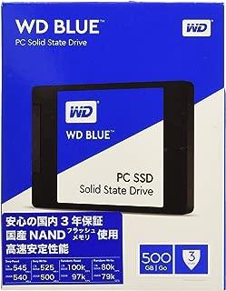 WD Blue 500GB Internal SSD - SATA III 6 Gb/s, 2.5
