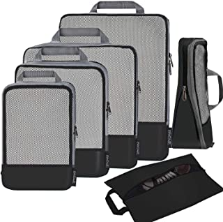 BAGAIL Compression Packing Cubes Travel Expandable Packing Organizers