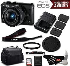 Canon EOS M100 Mirrorless Digital Camera with 15-45mm Lens (Black) 2209C011 International Version - Professional Bundle