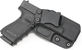 Black Scorpion Outdoor Gear IWB KYDEX Holster: Fits Glock 19 19 X 23 32 (Gen 1-5) | Made in USA | Custom Fit | Inside Waistband | Adjustable Cant/Retention System (Right Hand)