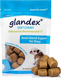Glandex Anal Gland Soft Chew Treats with Pumpkin for Dogs 30ct Chews with Digestive..