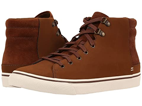 UGG Men's Hoyt Waterproof High Top Sneakers (Dark Chestnut)