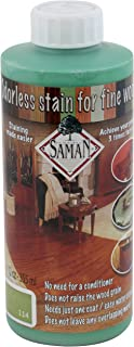 SamaN Interior Water Based Stain for Fine Wood, Lime, 12 oz