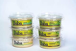 Baba Small Batch Organic Hummus (8 oz, 6 Pack) - Zero Preservatives, USDA Organic, Gluten Free, Vegan, Non-GMO, Cholesterol Free (All 6 Baba Flavors)