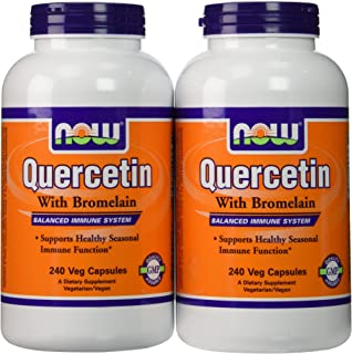 Now Foods Quercetin with Bromelain, Veg-Capsules,480 (2 Pk X 240)