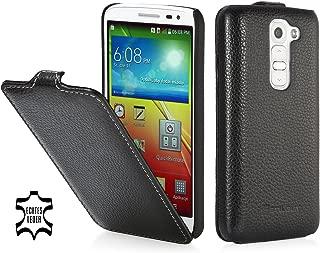 StilGut UltraSlim Genuine Leather Case for LG G2 Mini Black LGG2MNSTBK