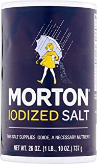 Morton Iodized Table Salt, 26 Oz, pack of 2
