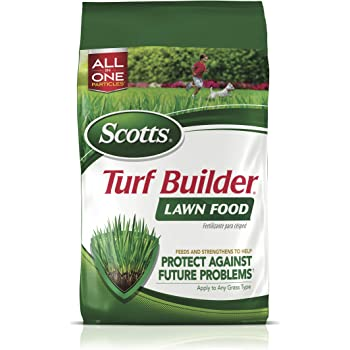 Scotts Turf Builder Lawn Food, 12.5 lb. - Lawn Fertilizer Feeds and Strengthens Grass to Protect Against Future Problems - Build Deep Roots - Apply to Any Grass Type - Covers 5,000 sq. ft., 5M - 22305