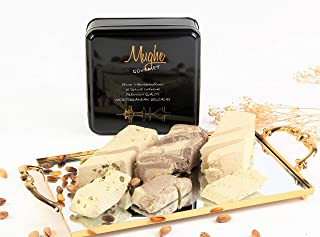 Halvah Assorted (30 Oz) - Tahini Halva 3 Varieties: Pistachio, Marble Chocolate & Plain - Flaky Turkish Halawa Tahini (Hal...