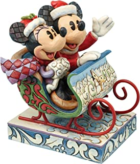 Disney Traditions Jim Shore Old Fashioned Sleigh Ride Mickey Minnie Mouse