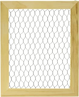 Darice Chicken Wire Frame (1pc) – Unfinished Wood Frame Ready to Decorate and Embellish – Add Photos, Banners, Jewelry, Pr...