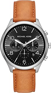 Michael Kors Men's Merrick Chronograph Silver-Tone Stainless Steel Watch MK8661