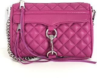 Quilted Leather Mini M.A.C. Clutch Crossbody, Magenta