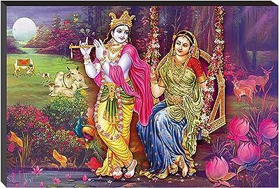 Masstone Radhe Krishna Religious Self Adhesive 6mm MDF Panel Painting (12x 18 Inch)
