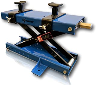 LiftMaster 1100 LB Motorcycle Center Scissor Lift Jack with Safety Pin Hoist Stand Bikes ATVs