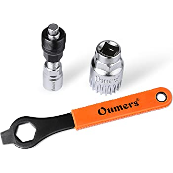 16MM Spanner//Wrench +Crank Puller Rotor Lockring Cassette Removal with Pin and Auxiliary Wrench Earsam 7 Pcs Bike Chain Tool Kit Flywheel Sprocket Remover Tool Set Including 3 in 1 Chain Whip
