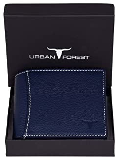Urban Forest Sheldon RFID Blocking Blue Leather Wallet for Men