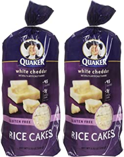 Quaker White Cheddar Rice Cakes, 5.5 oz, 2 pk