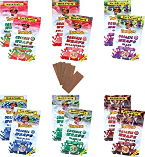 Honeypuff Flavored Hemp Wraps Rolling Papers, 6 Flavors (12 Packs of 5) Herbaceous Fibers of King Size (110mm)