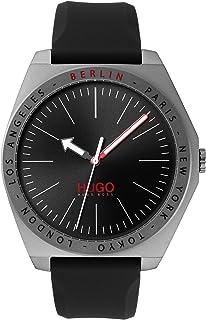 HUGO Reloj Analógico para Unisex Adulto de Cuarzo con Correa en Silicona 1530104