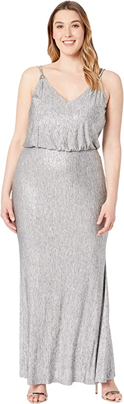 Shimmer Blouson Gown CD7B7P7E