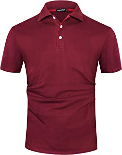 Musen Men White Polo Shirts Cotton Classic Fit Short Sleeve Sport T-Shirt Casual Polos