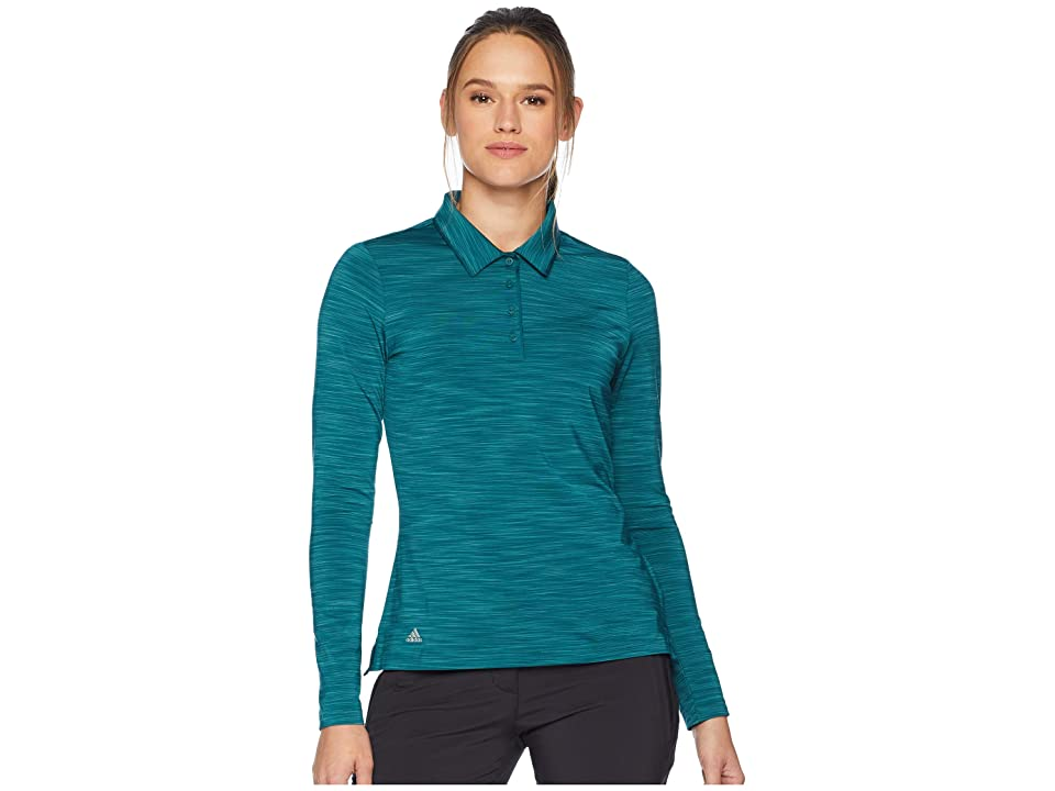 adidas Golf Ultimate Long Sleeve Polo (Mystery Green) Women's Long Sleeve Pullover