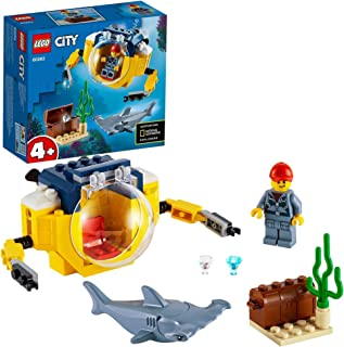 LEGO City Oceans Ocean Mini-Submarine 60263 building set, easy to build elements, Toy for Boys and Girls 4+ years old (41 ...
