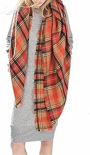 Stylish Plaid Scarf Soft Oversized Scarves Warm Cozy Blanket Winter Shawl