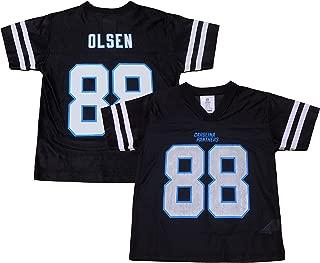 Greg Olsen Carolina Panthers #88 Youth Black Home Player Jersey