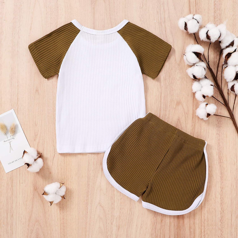 Toddler Baby Boy Girl Summer Clothes Kids Short Sleeve T-Shirt Tops+Shorts Outfits Set 2pcs Shorts Set