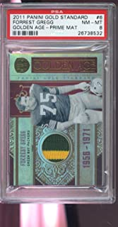 2011 Panini Gold Standard Age Forrest Gregg Game-Worn Jersey Card Used PSA 8