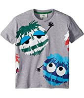 Fendi Kids - Short Sleeve Logo Fur Monster Graphic T-Shirt (Toddler)