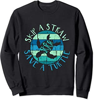 SKSKSK Skip A Straw Save A Turtle - Vintage Turtle Gift Sweatshirt