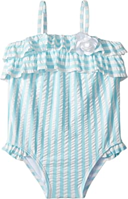 Janie and Jack Ruffle Top Swimsuit (Infant)