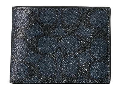 COACH Slim Bifold (Midnight) Bi-fold Wallet