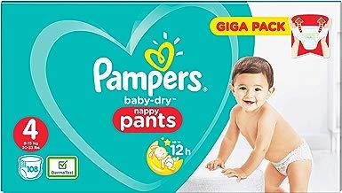 Pampers Baby-Dry 81681812 pañal desechable Niño/niña 4 108 pieza(s) - Pañales desechables (Niño/niña, Pant diaper, 9 kg, 15 kg, Multicolor, 12 h)