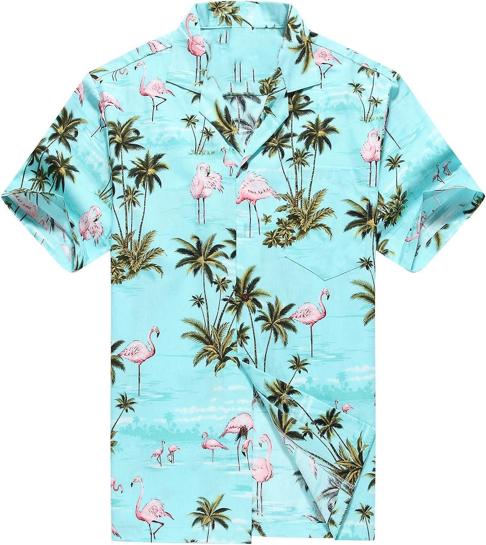 Made in Hawaii Philadelphia Mall Men's Hawaiian A Aloha Pink Shirt Flamingos Limited time sale