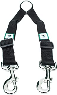 Caldwell's Pet Supply Co. No Tangle Dog Leash Coupler, Double Dog Walker - Trainer Leash - Two Dogs Adjustable Splitter Lead 1 X 16-24 Inches