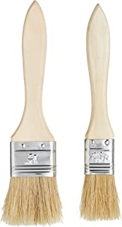 Kitchen Craft KCPASTRYPK2 Wide Wooden Basting/Pastry Brush Set (2 Pieces), Bois, Brun, 9 x 12 x 16 cm