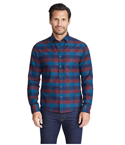 UNTUCKit Wrinkle-Free Flannel Alezio Shirt (Dark Red) Men