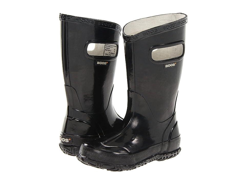 Bogs Kids Glosh Solid Rain Boot (Toddler/Little Kid/Big Kid) (Black) Kids Shoes