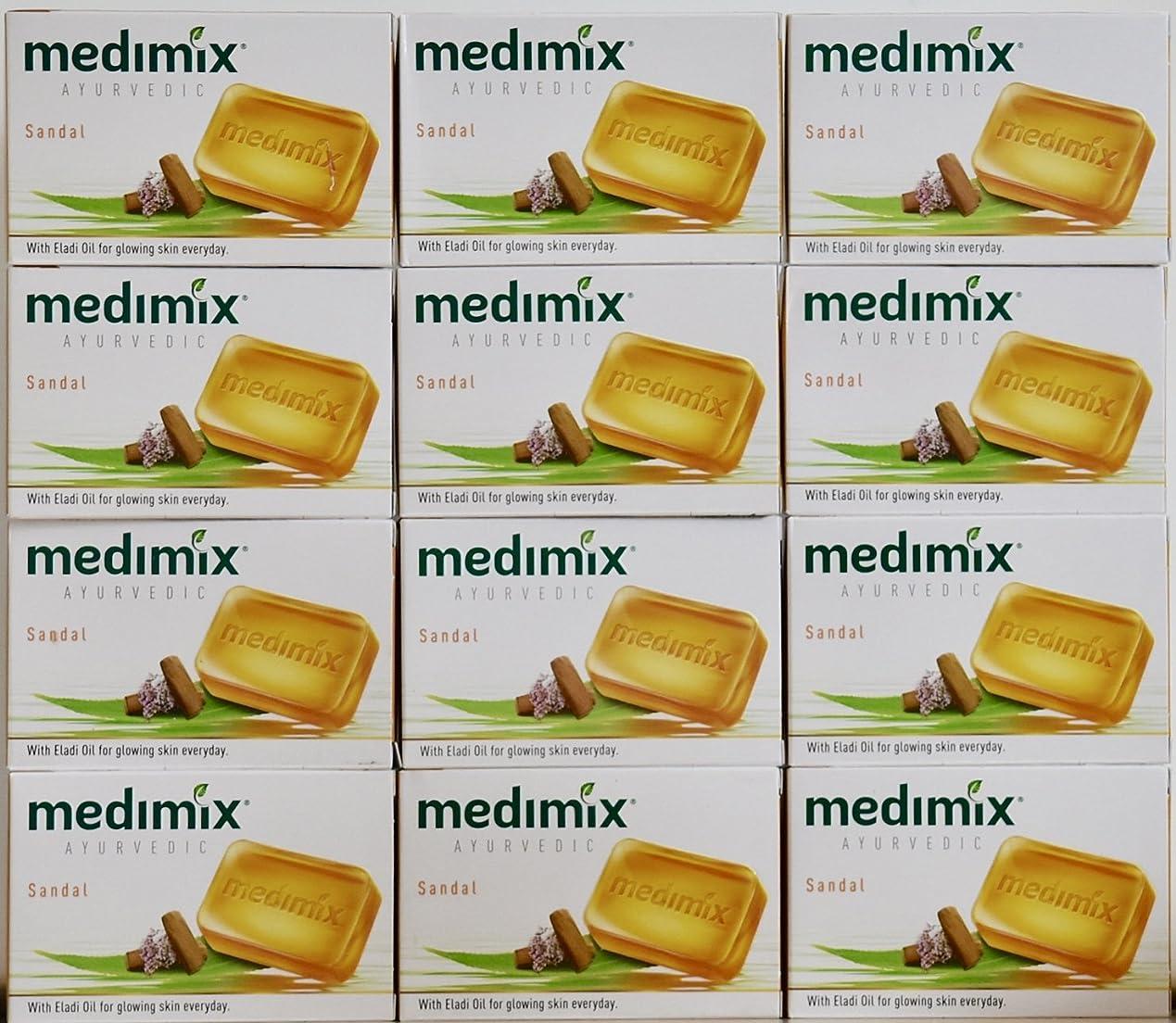 友情現実違反するmedimix メディミックス アーユルヴェディックサンダル 石鹸(旧商品名クラシックオレンジ))125g 12個入り