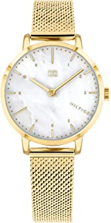 Tommy Hilfiger 1782043 Womens Quartz Watch, Analog Display and Stainless Steel Strap, White