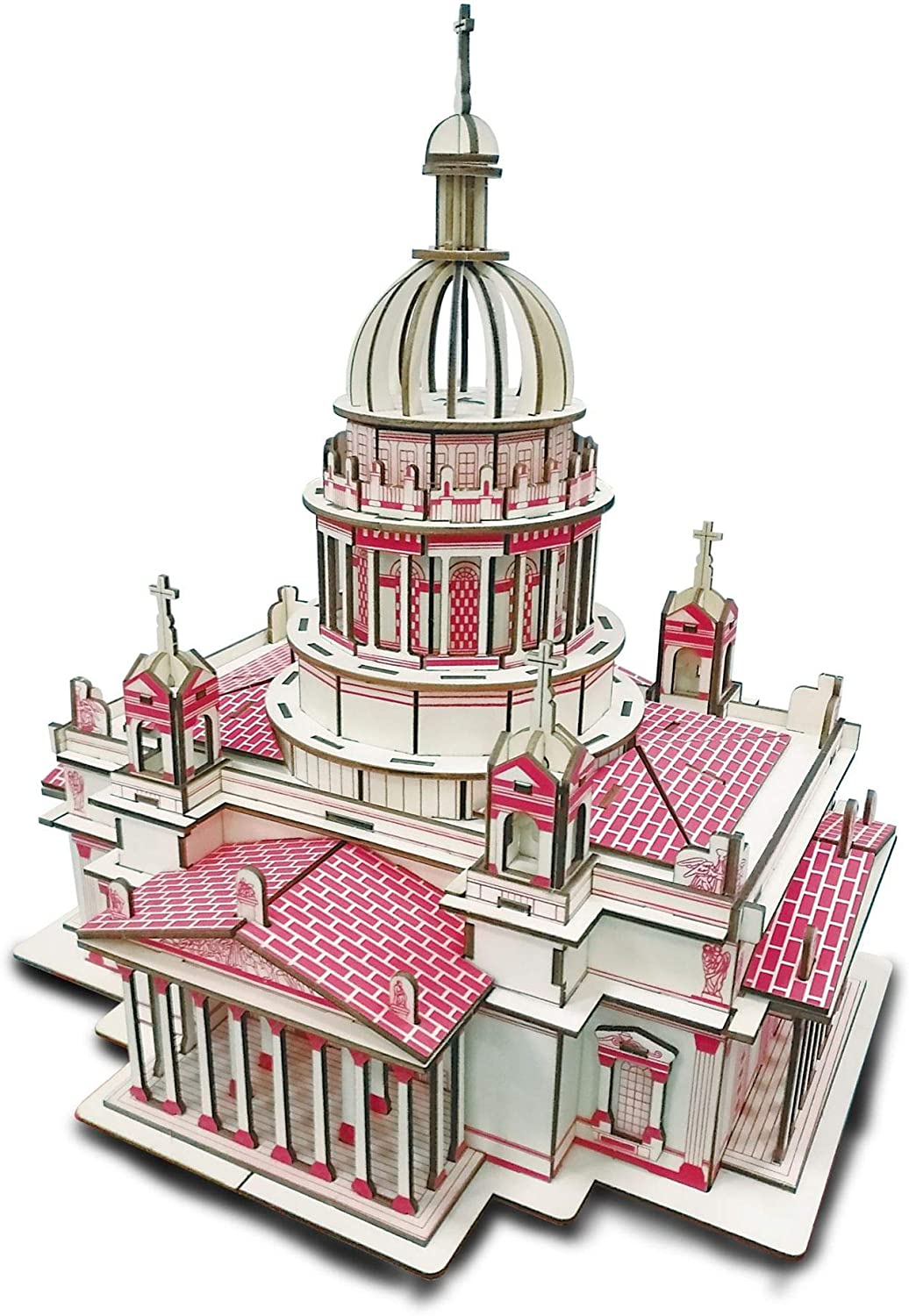 SHPEHP 3D Wooden Puzzle At the price Max 50% OFF of surprise for Kiev Anc Adults-Wooden Cathedral-DIY