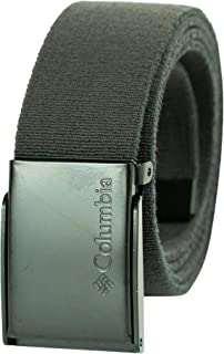 Columbia Men's Military Web Belt - Casual for Jeans Pants Adjustable One sizee Cotton Metal Plaque Buckle