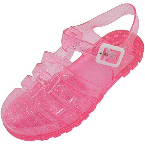 Girls Gold Pink /& Clear Jelly Shoes UK Infant Sizes 4,5,6,7 8 /& 9