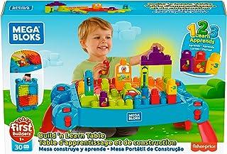 مجموعة Mega Bloks Build 'n Learn Table, multi color, 24 x 16 x 5.2 inches, CNM42